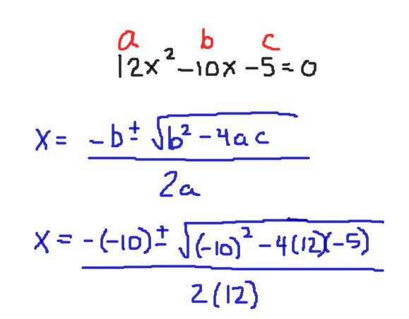 Solving Quadratic Equations By Using The Quadratic Formula Tutor